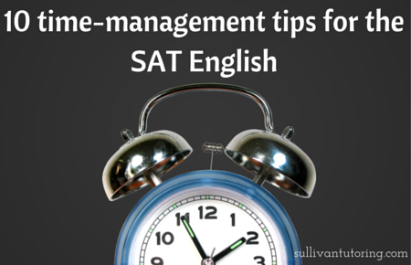 10 time-management tips for the SAT English