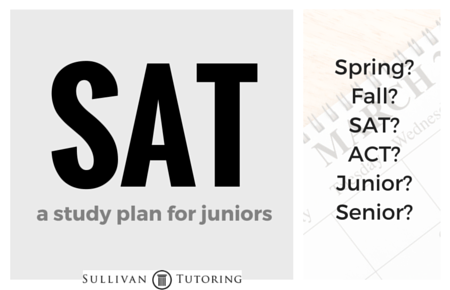 SAT study plan for juniors